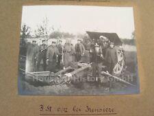115828: Fotoalbum Fußartillerie Regiment 12, General Haubold Frankreich Russland