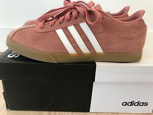 Adidas Courtset Women's Suede Sneaker Size 8.5 Pink/Gum