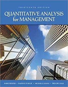 Quantitative Analysis for Management 13e Global Edition