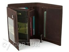 MENS LUXURY HUNT QUALITY LEATHER WALLET, CREDIT CARD HOLDER, PURSE BROWN CORIUM