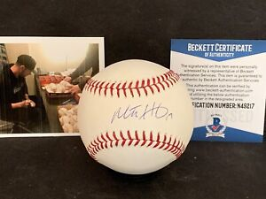 Mitch Haniger Seattle Mariners Signed Major League Baseball Beckett WITNESS ~