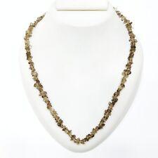 Uncut Chips Beaded Necklace Ghnbg39G Natural Gemstone Smoky Quartz Semi Precious
