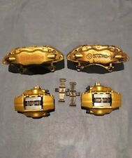 2007 Subaru Impreza WRX STI BREMBO Gold Brake Calipers Set BBK Swap OEM 02 07 08