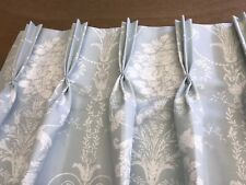 Extra Long Laura Ashley Josette Duck Egg,Pinch Pleat Curtains,Made To Measure