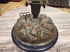 Antique German wind-up Musical Feather Christmas Tree Stand Paper Mache Works