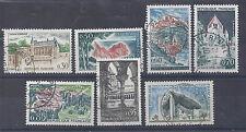 FRANCE - n° 1390 à 1394 A oblitérés - Série touristique