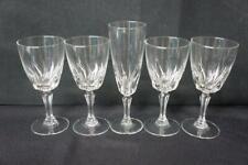 5 Pcs Cristal D'Arques J G Durand Flamenco, 4 Wine Glasses, 1 Fluted Chamgagne