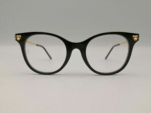 Cartier CT0031O-001 Panther Black/Gold Luxury Eyeglasses New Authentic Rare