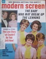 Modern Screen Magazine September 1968 - Lennon Sisters & Bobby & Ethel Kennedy