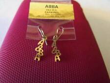 ABBA 1977 GOLD EARRINGS EAR RINGS ONLY AVAILABLE IN AUSTRALIA BRAND NEW RARE