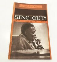 Summer 1961 SING OUT! The FOLK SONG MAGAZINE with MEMPHIS SLIM