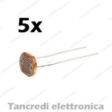 5x SENSORE FOTOSENSORE 5mm 10 PEZZI GL5506 FOTORESISTENZA LDR 5528 ARDUINO DRONE