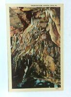 Kutztown Pennsylvania Crystal Cave Interior View Linen Vintage Postcard