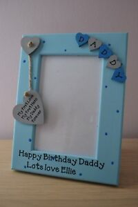 Personalised Happy birthday Daddy First love First hero Photo Frame Gift