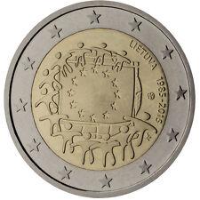 La Lituania 2015 - 2 Euro Comm-trentesimo anniversario della bandiera europea (UNC)