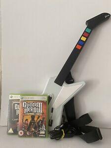 Xbox 360 Guitar Hero Gibson X-Plorer Wired Guitar Controller & 2 Games Bundle -