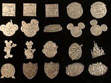 DISNEY WDW - HIDDEN MICKEY PINS - COMPLETE 2013 CHASER PINS SET (20 SILVER PINS)