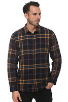 Elevani Men's Long Sleeve Regular Fit Casual Checkered Black Shirt