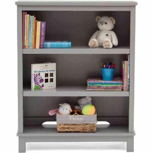 Delta Children Epic 3-Tier Kids Bookshelf, Gray
