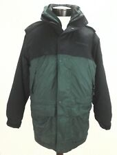 EUC $298 Timberland Mens Winter Fall Hooded Zip Up Jacket w Lining Bk Green XS