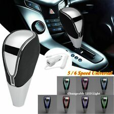 Car USB Charge Gear Shift Knob RGB LED Light Changeable Touch Activated Sensor