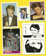 Michael J Fox Fab Card Collection Back to the Future Family Ties Emmy Awards