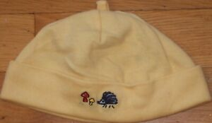 NEW Vtg Yellow GYMBOREE A Walk In The Woods BEANIE Cap HAT Hedgehog 3-6 mo NWT