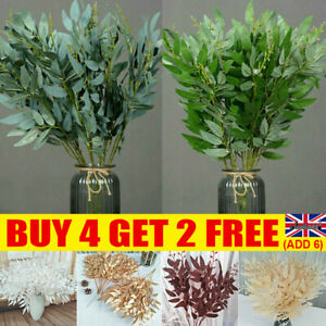 Artificial Fake Willow leaves Silk Flowers Plant Xmas Wreath Home Hotel-Decor
