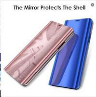 Para Huawei P20 Pro/Lite Cuero Funda Espejo Claro Carcasa Flip Stand Case Cover