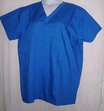 Life V Uniform Blue Scrub Top--Size L