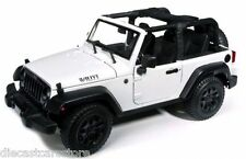 2014 JEEP WRANGLER WILLYS WHITE 1:18 DIECAST MODEL CAR BY MAISTO 31610
