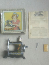 Vintage antique child's sewing machine miniature working early 20th century
