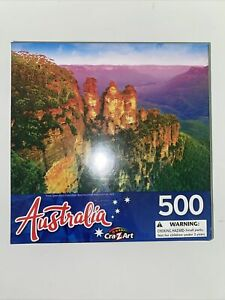 """New 500 Pieces Cra-z-Art Jigsaw Puzzles """"Three Sisters Rack,Blue Mountain N.S.W'"""