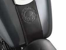HARLEY DAVIDSON SKULL EMBOSSED LEATHER TANK PANEL SOFTAIL DYNA MADE IN USA