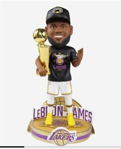 2020 LEBRON JAMES LOS ANGELES LAKERS Champions CELEBRATION SERIES BOBBLEHEAD