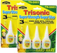 LOT OF 3 TUBES SUPER GLUE MULTI-PURPOSE EXTRA STRONG 10G EACH CRAFT SUPPLIES
