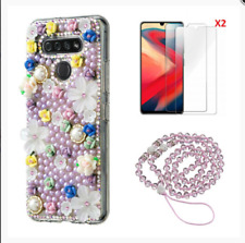 Bling Wallet Phone Case + Lanyard + Tempered Film + 3 in 1 Fast Charging Cable K