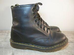 Vintage Dr. Martens Doc England 1460 Black Leather Women's Boots Size UK 6 US 8