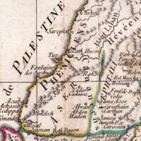 Carte Géographique Judée Terre Sainte 1806 Israël Cisjordanie  ארץ יהודה Judea