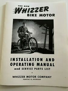 Whizzer Motor Bike Installation And Operating Manual 1946