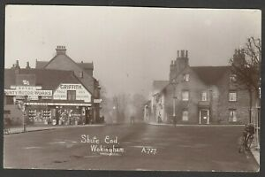 Postcard Wokingham nr Reading Berkshire shop front E J Chase at Shute End RP