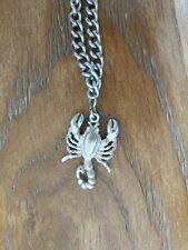 Vintage Scorpio Pendant & Chain Necklace Fashion Jewelry Zodiac Sign Metal
