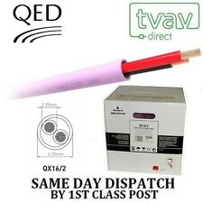QED QX16/2 2 Core Low Smoke Zero Halogen Speaker Cable - PINK - Price Per Metre