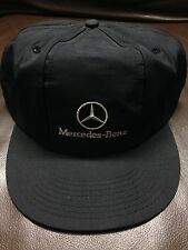 #A13 Vtg Hat Cap Snap Strap Back Mercedes Benz Car Vehicle Made In USA Size S