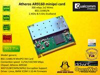 Atheros AR9160 802.11N minipci Linux BMW ICOM A1 A2 WLAN WiFi 2x2 MiMO 300 Mbps