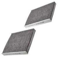 Carbon Cabin Pollen Filters x 2 Mann Fits BMW 5 6 7 Series F10 F11 F12 F07 F13