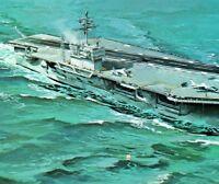 USS John F Kennedy JFK Big John CVA-67 boiler power Vintage Postcard