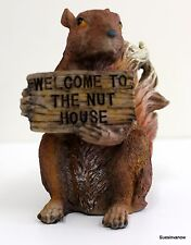 Squirrel hlding sign Decorative Figure Welcome to Nut House Decor Forest Animal