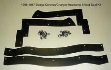 1966 1967 Charger Coronet Headlamp Shield Seal Kit  Replace Worn & Missing Seals