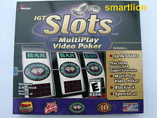 IGT Slots & Multiplay Video Poker PC GAME NEW SEALED